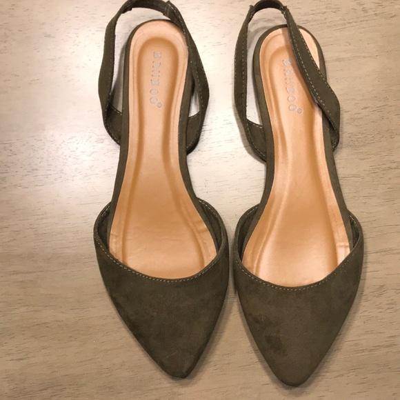 a2ee576fc3e BAMBOO Shoes - Bamboo Nubuck pointy-toe slingback flat